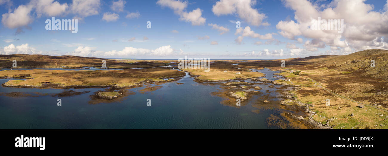 Aerial view of Loch Ayenort, South Uist, Outer Hebrides - Stock Image