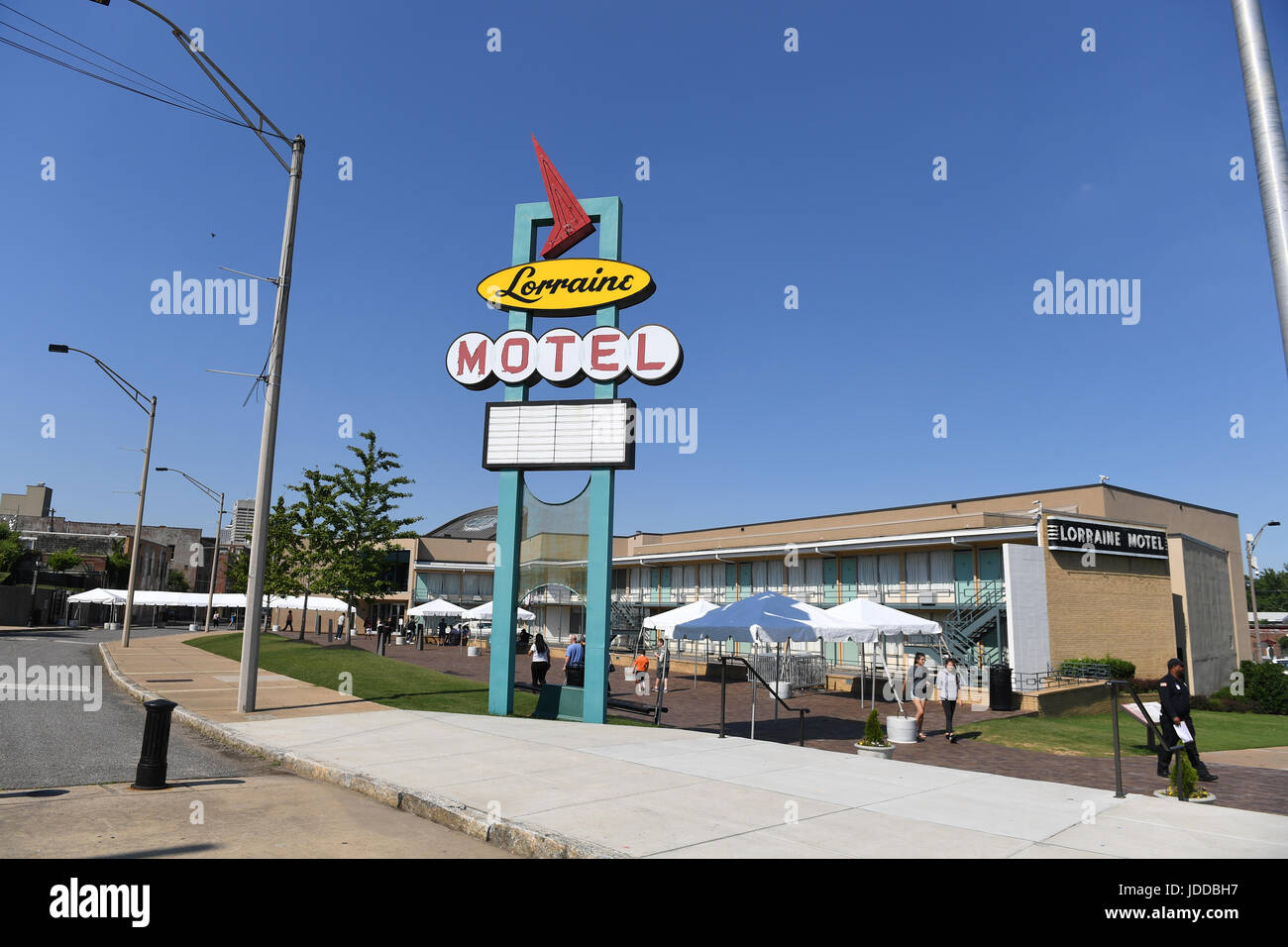 Memphis, TN, USA - June 9, 2017: The Lorraine Motel and site of the National Civil Rights Museum where Dr. Martin Stock Photo
