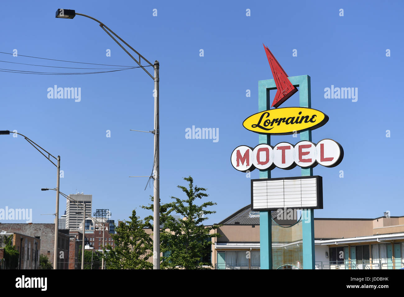 Memphis, TN, USA - June 9, 2017: The Lorraine Motel and site of the National Civil Rights Museum where Dr. Martin Luther King Jr. was assassinated Stock Photo