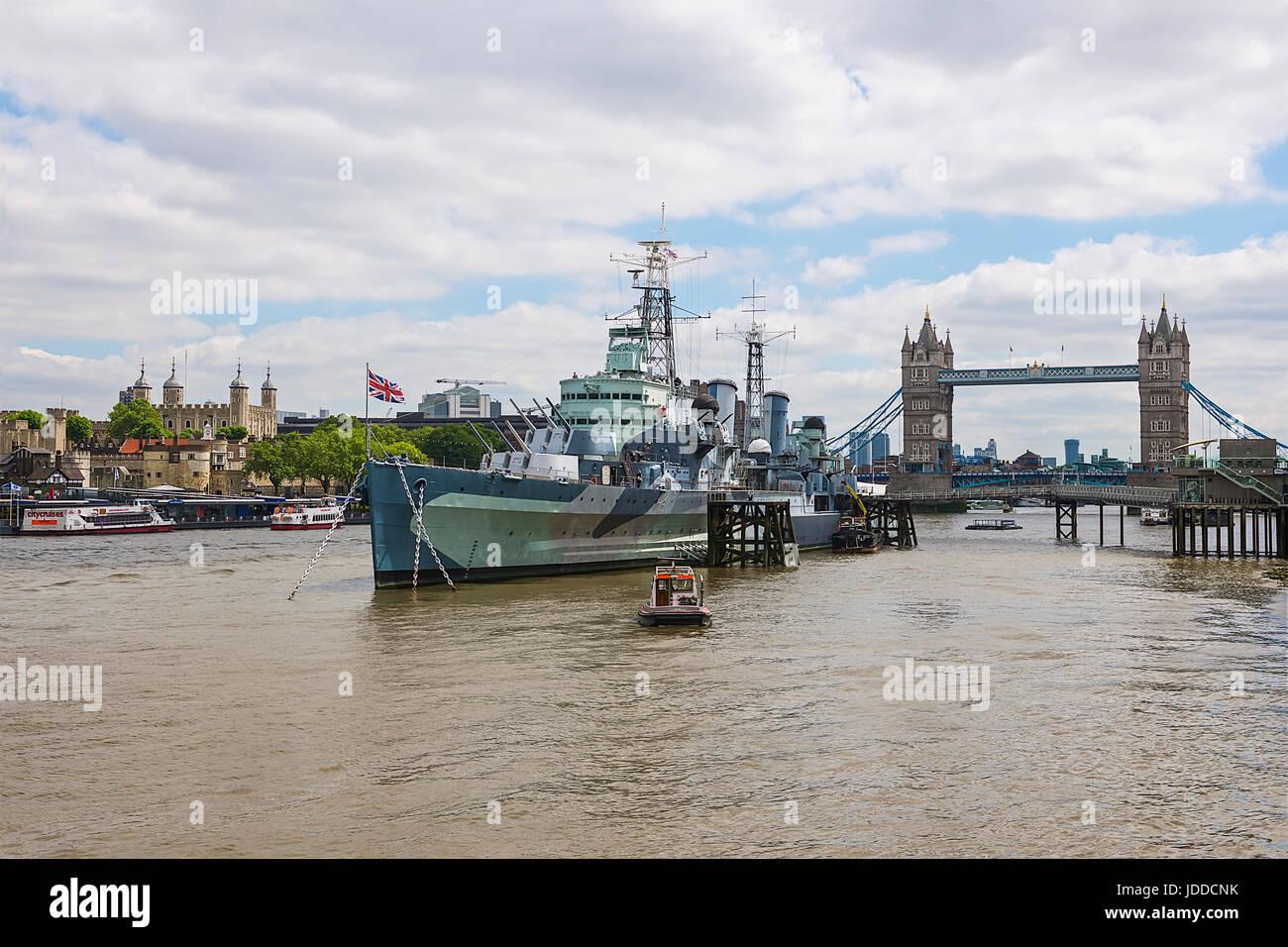 HMS Belfast - Stock Image