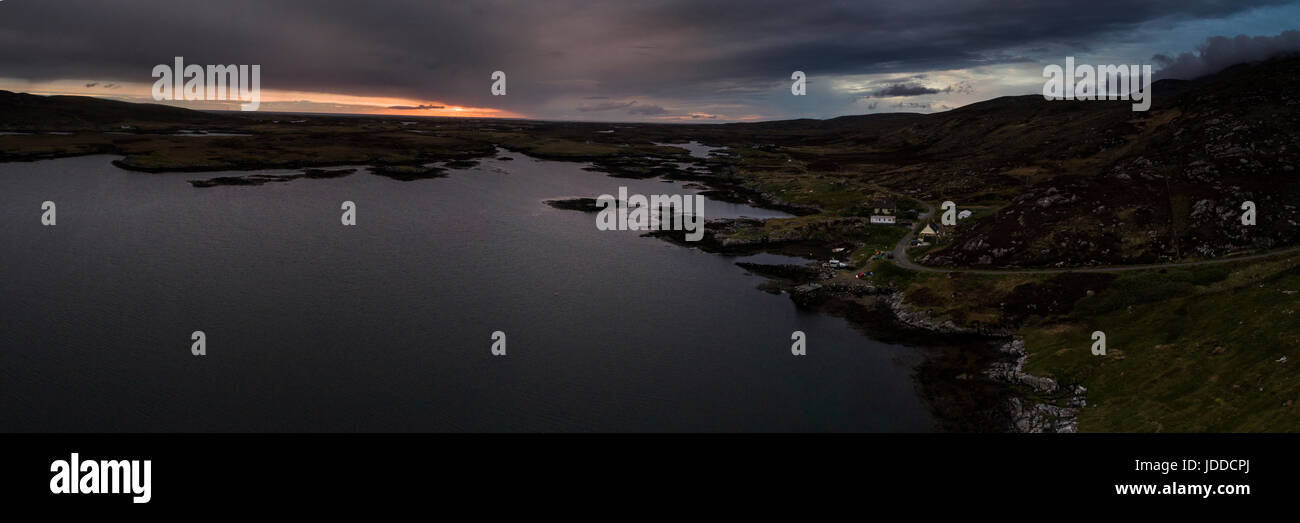 Aerial view of Loch Eynort, South Uist, Outer Hebrides - Stock Image