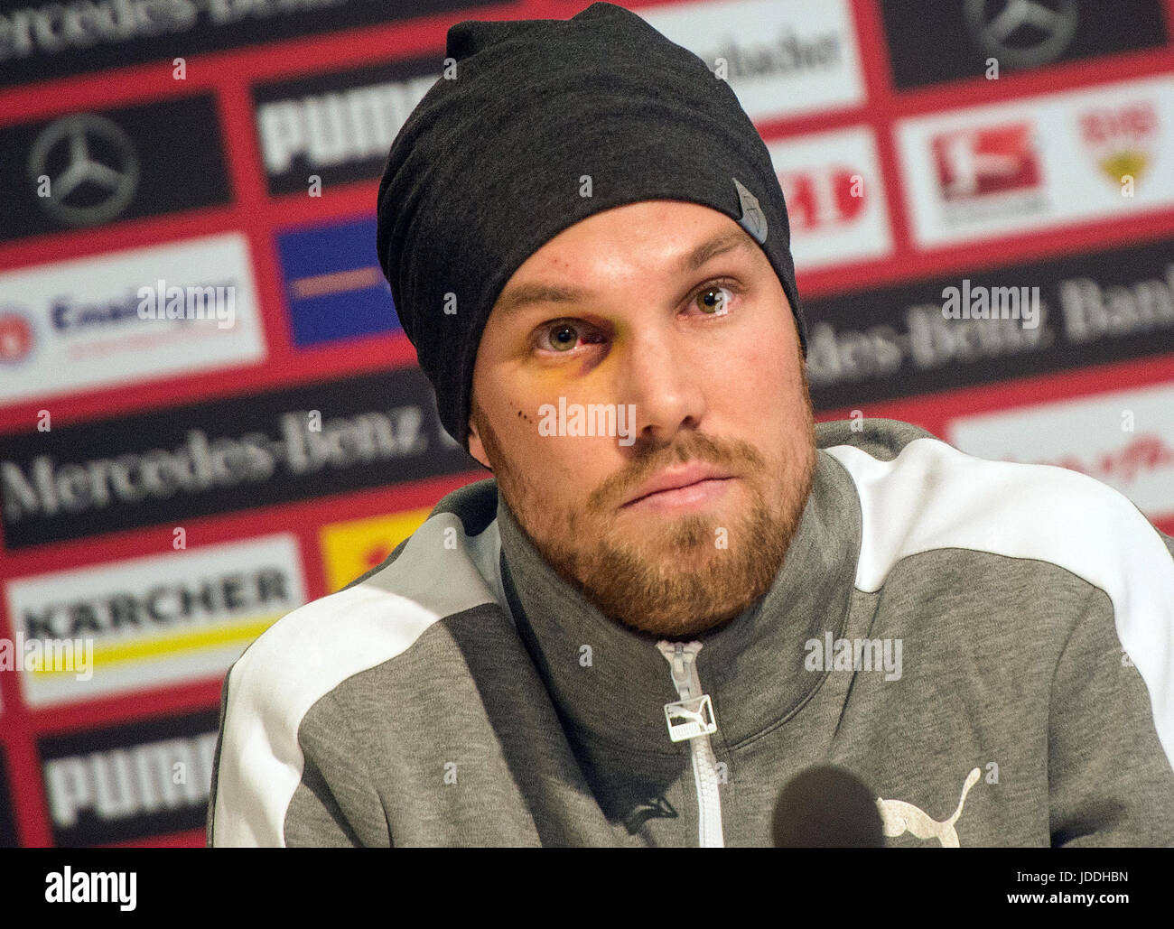 Stuttgart, Germany. 03rd Mar, 2017. FILE - A teary Kevin Grosskreutz offers his family and fans an apology for his - Stock Image