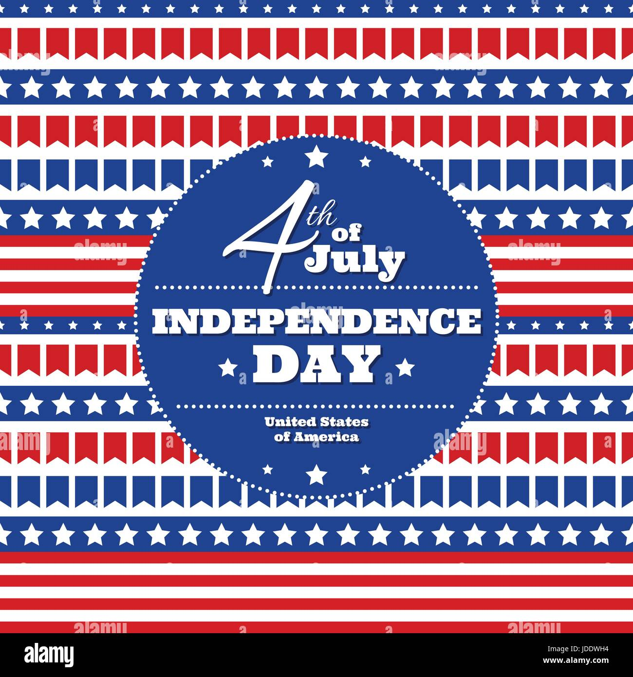 Independence day in usa july 4th greeting card or banner template independence day in usa july 4th greeting card or banner template vector design element pattern of small flags white stars and colorful stripes m4hsunfo