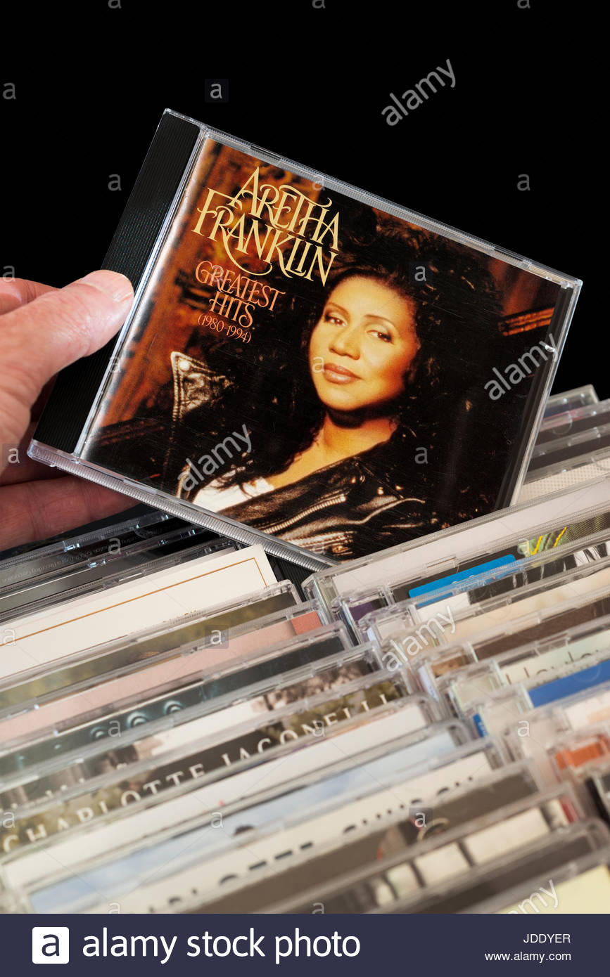 Aretha Franklin Greatest Hits 1980 1994 CD Being Chosen From Among Rows Of Other CDs Dorset England