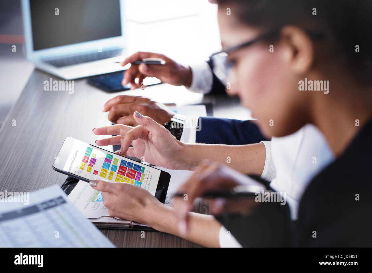 Team of business person works together. Concept of teamwork - Stock Image
