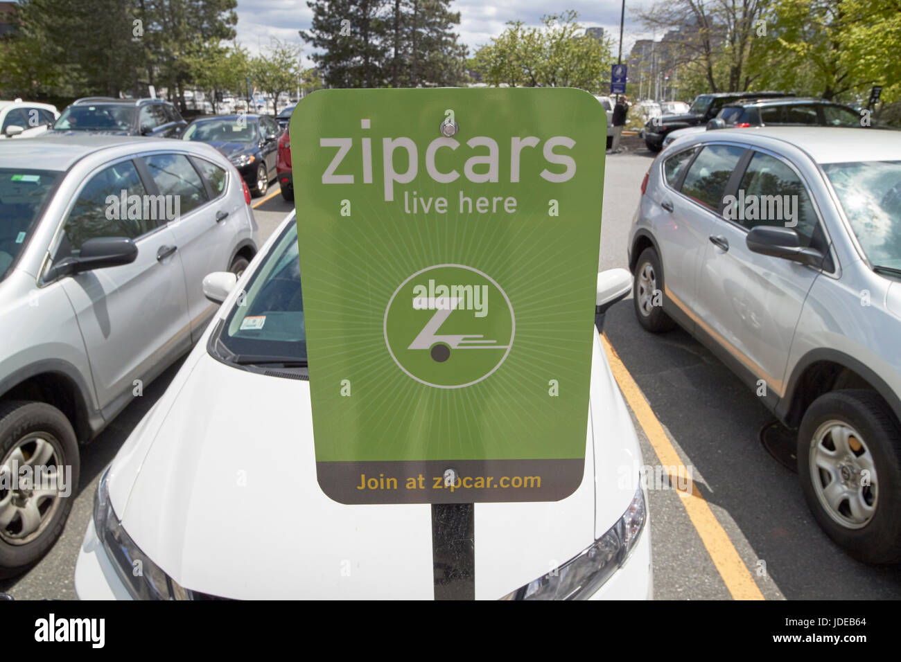 Zipcars Live Here Zipcar Car Sharing Parking Space In Boston Usa