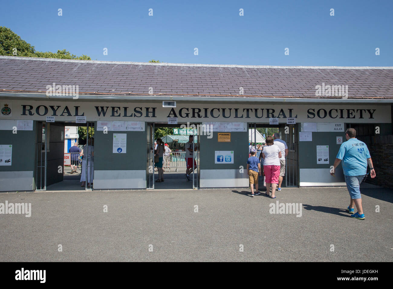 General view of the Royal Welsh Showground, Llanelwedd, Builth Wells, Powys, Wales, UK, July 19th 2016. Stock Photo