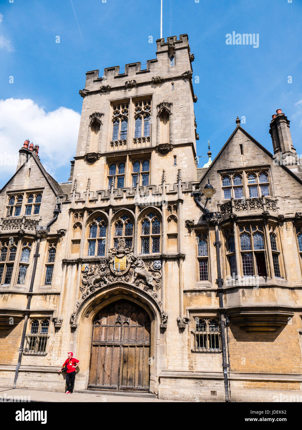 Brasenose College Entrance, Oxford High st, Oxford, Oxfordshire, England - Stock Image