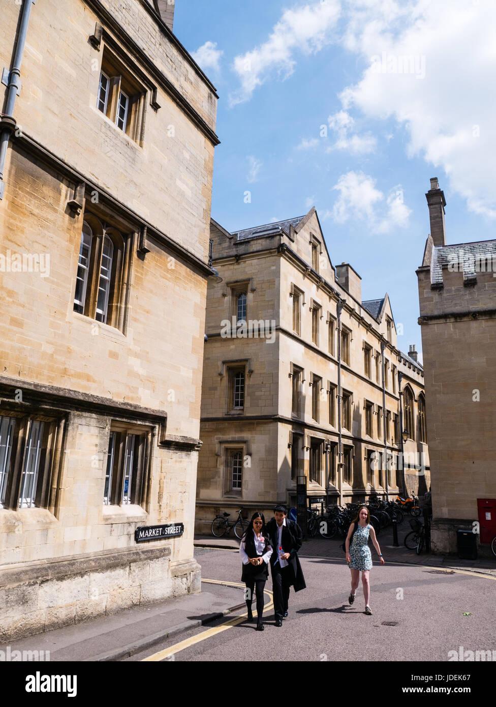 Market Street, Oxford, Oxfordshire, England - Stock Image