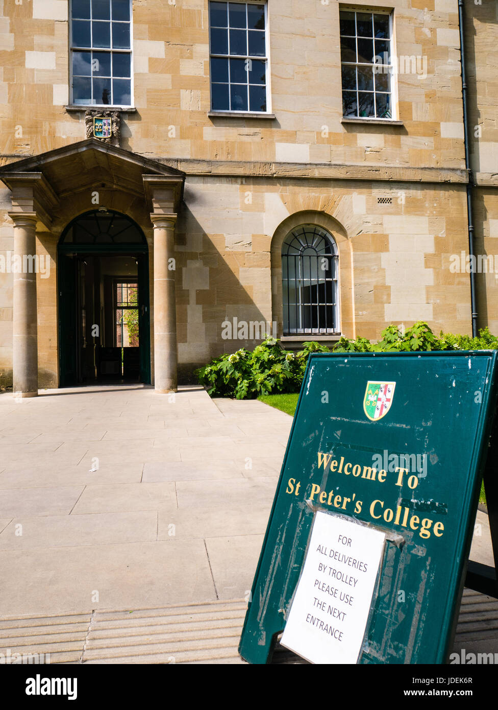 Lintion House, Entrance to ,St Peters College, Oxford, Oxfordshire, England - Stock Image