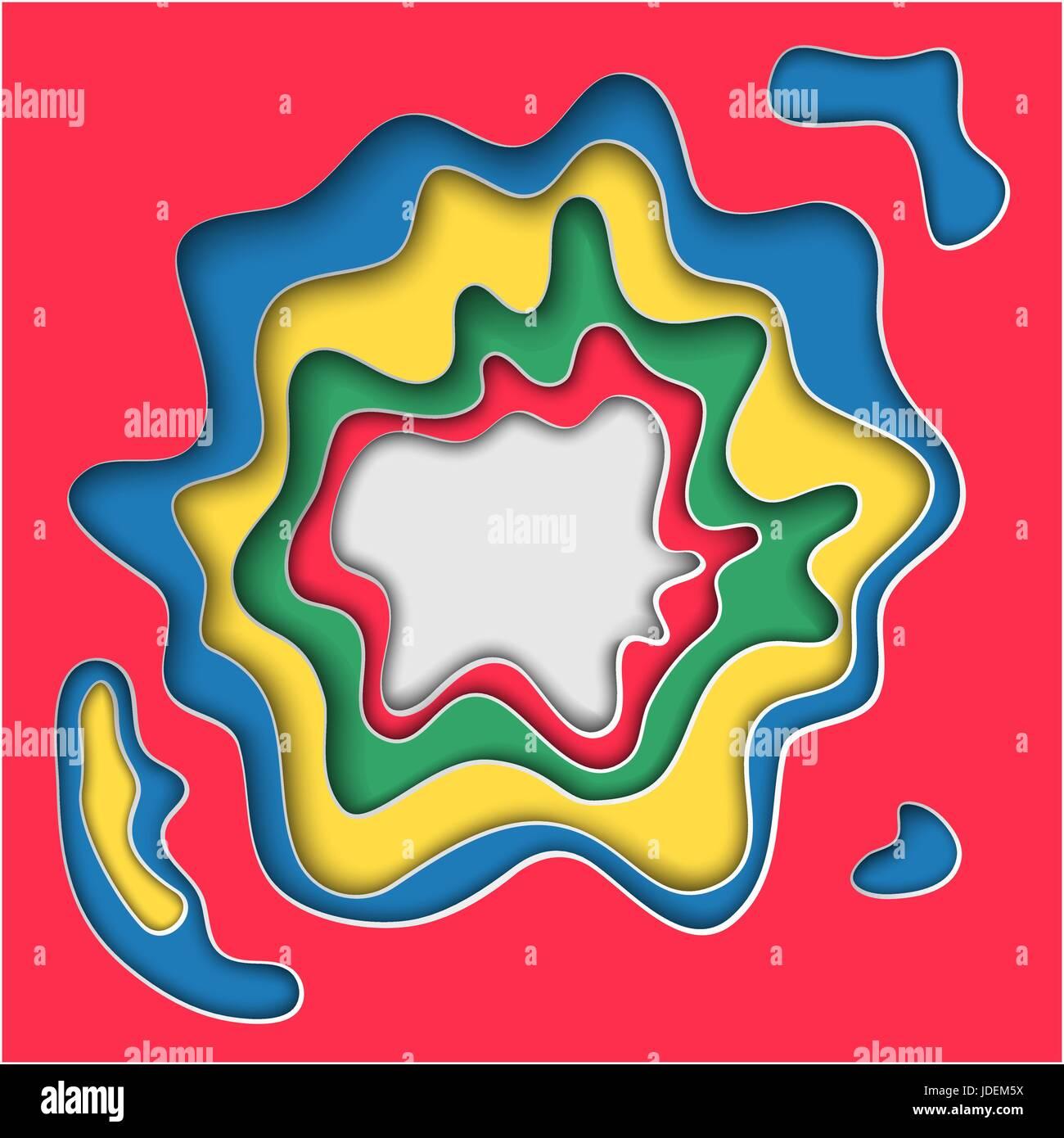 Vector Illustration Of Pop Up Book For Design Website Background Banner Paper Origami Elements Craft Template