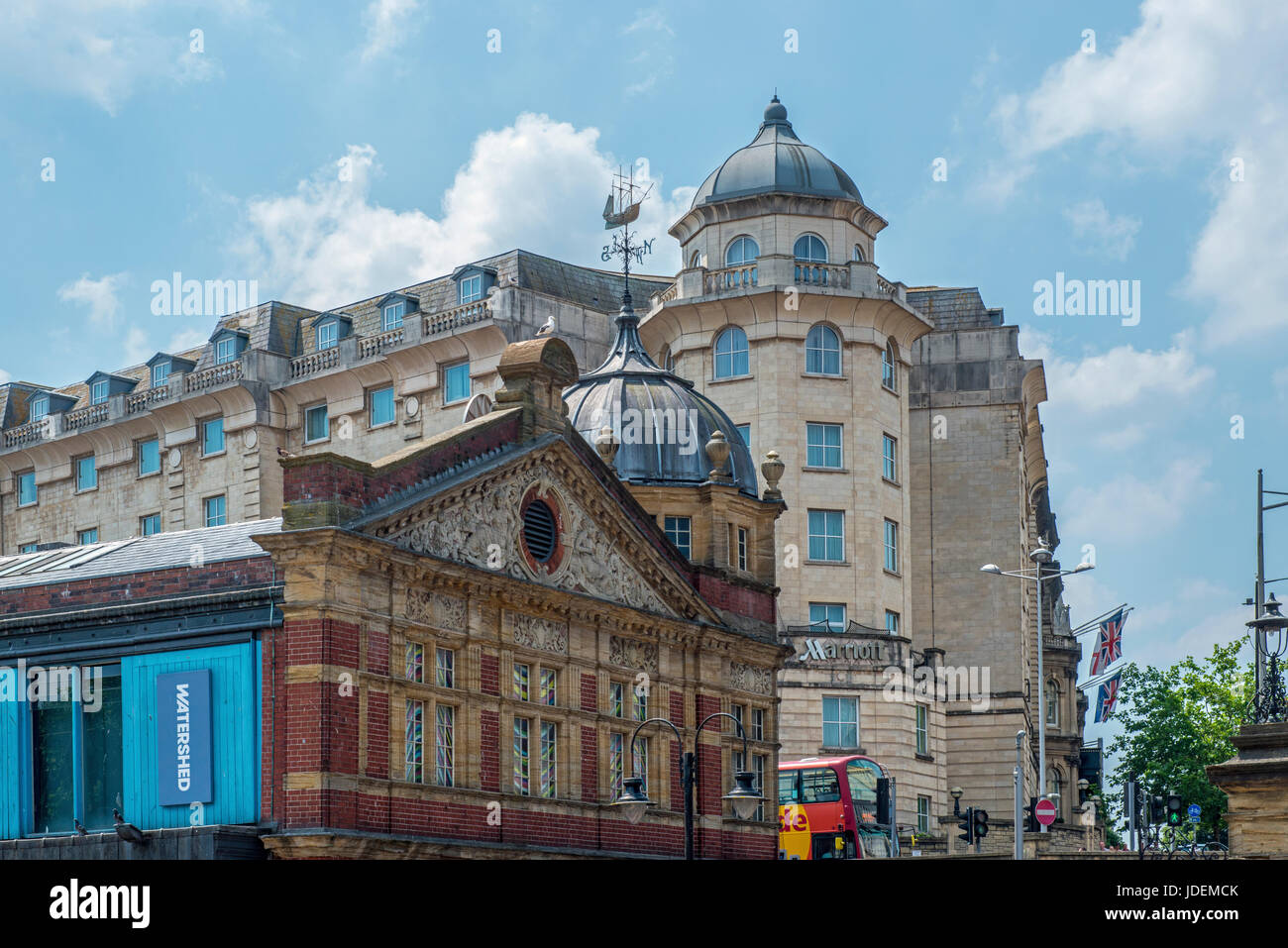 Watershed Cinema and Marriott Hotel Bristol City Centre - Stock Image