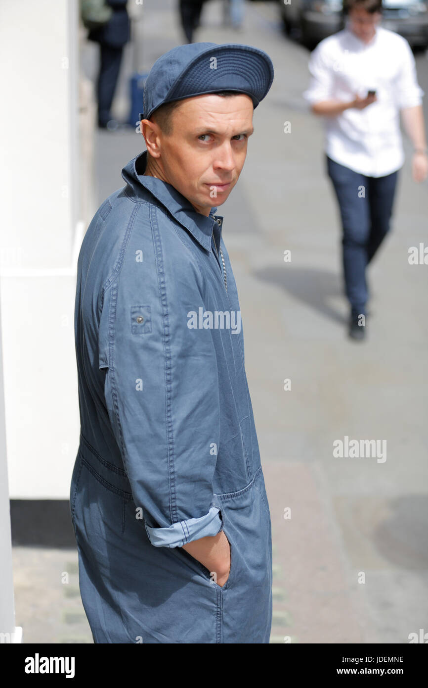 f3f6fdb17609 Nigel Cabourn SS18 presentation at London Fashion Week Summer Spring 2018.  Nigel Cabourn and (re)vision society collaboration and presentation SS18
