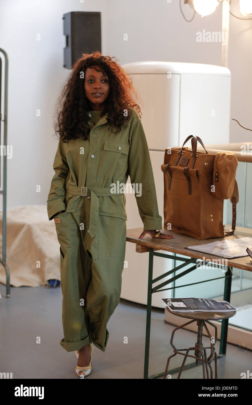 fdc7ea4dd279 Nigel Cabourn SS18 presentation at London Fashion Week Summer Spring 2018.  Nigel Cabourn and (re)vision society collaboration and presentation SS18