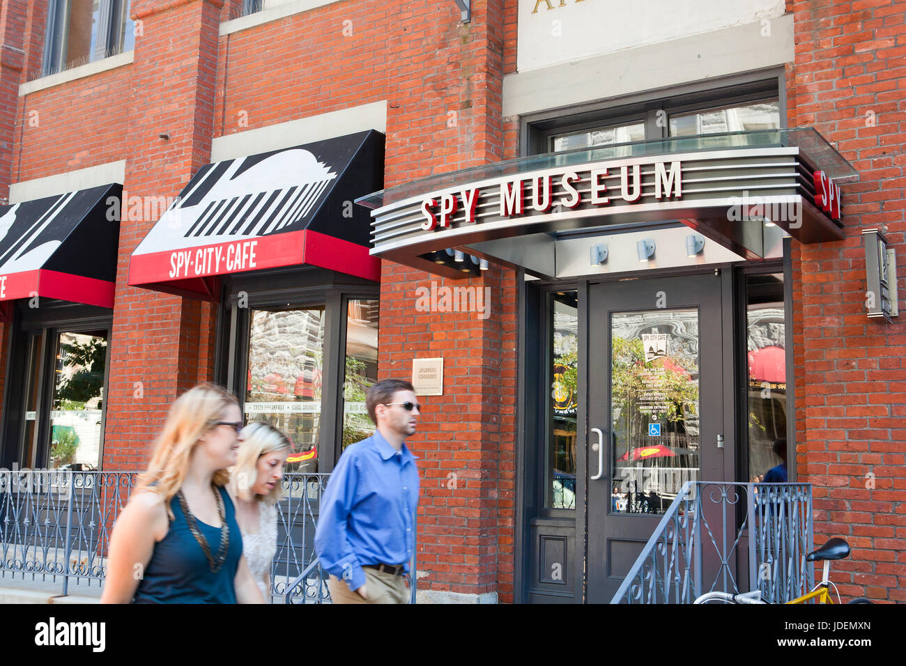 International Spy Museum side entrance - Washington, DC USA - Stock Image