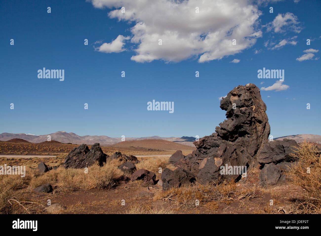 Lava rock formation in Sonoran desert (Sonoran desert landscape)- Arizona USA - Stock Image