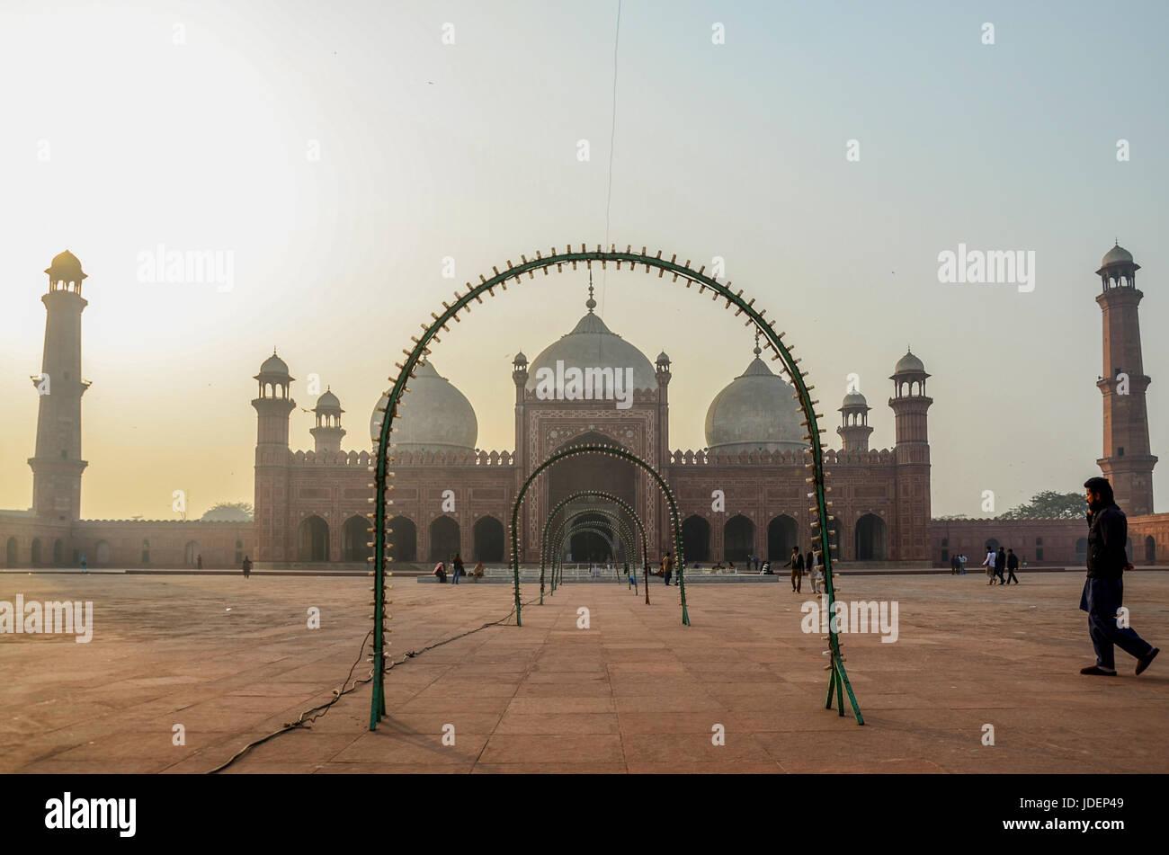 Badshahi Mosque, Lahore, Pakistan - Stock Image