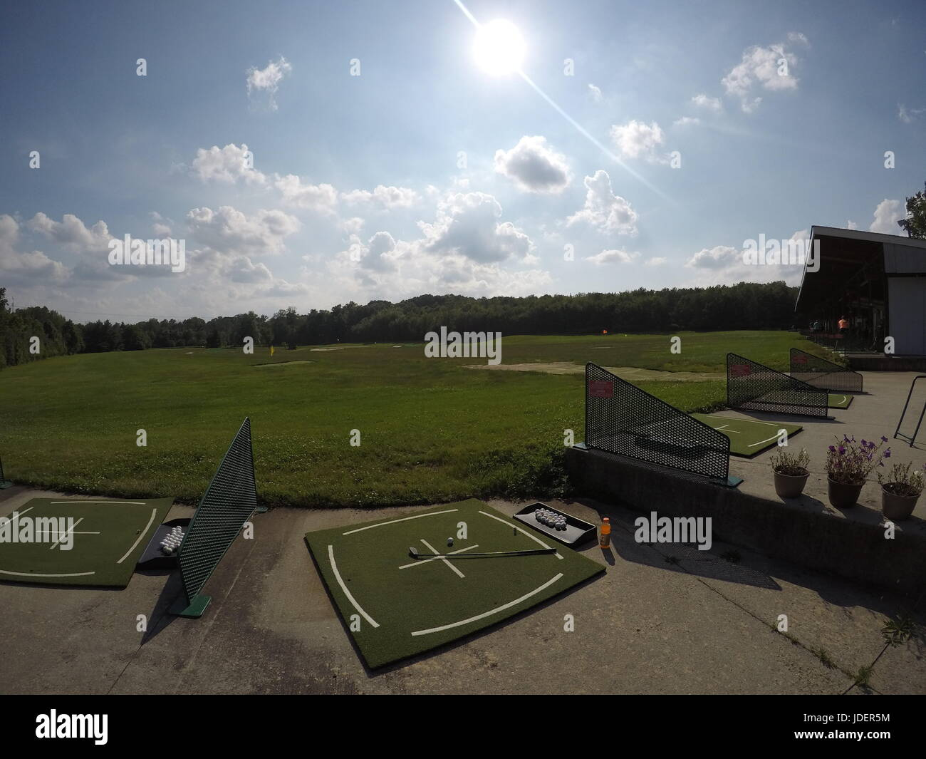 Driving Range - Lower State Road - Stock Image