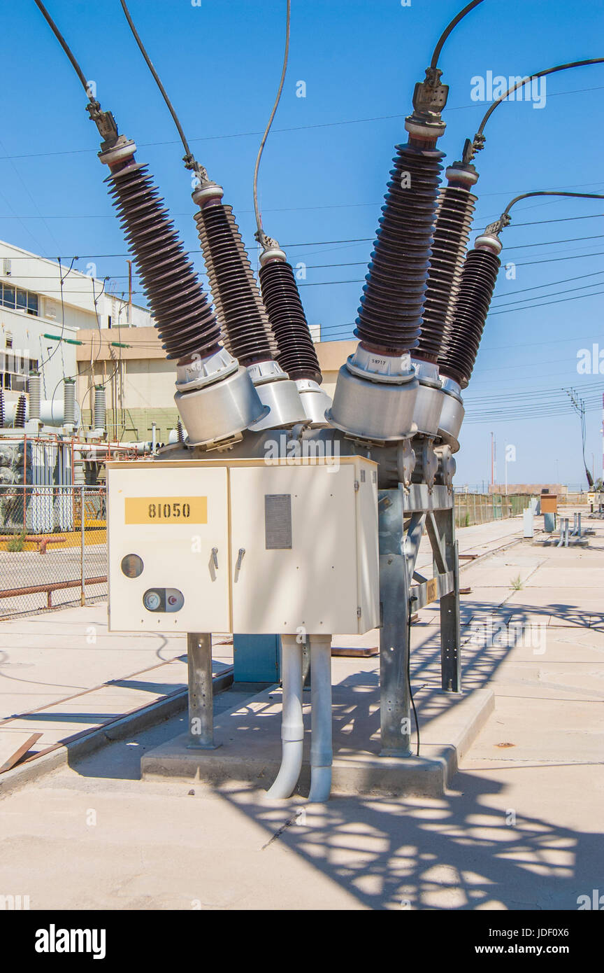 Power Circuit Breakers Stock Photos Line Breaker Comisin Federal De Electricidad Geothermal Plant Sf6 For 230 Kv Lines