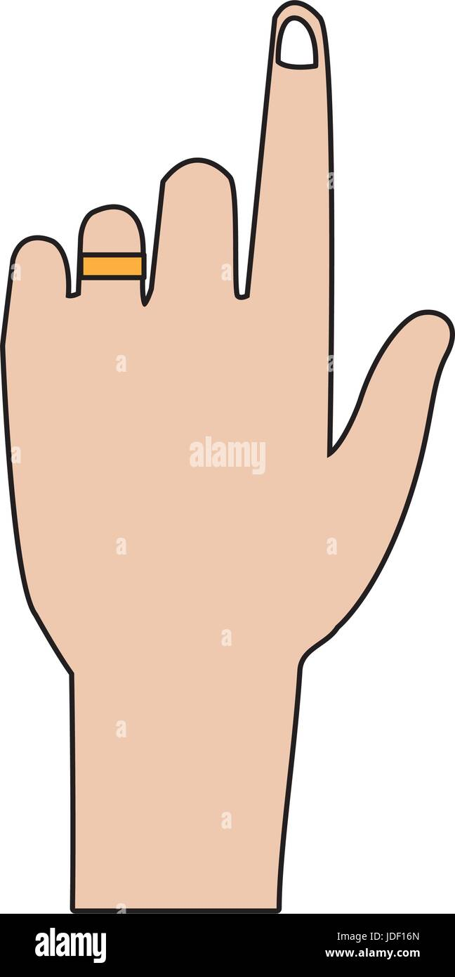 human hand pointing index gesture - Stock Vector