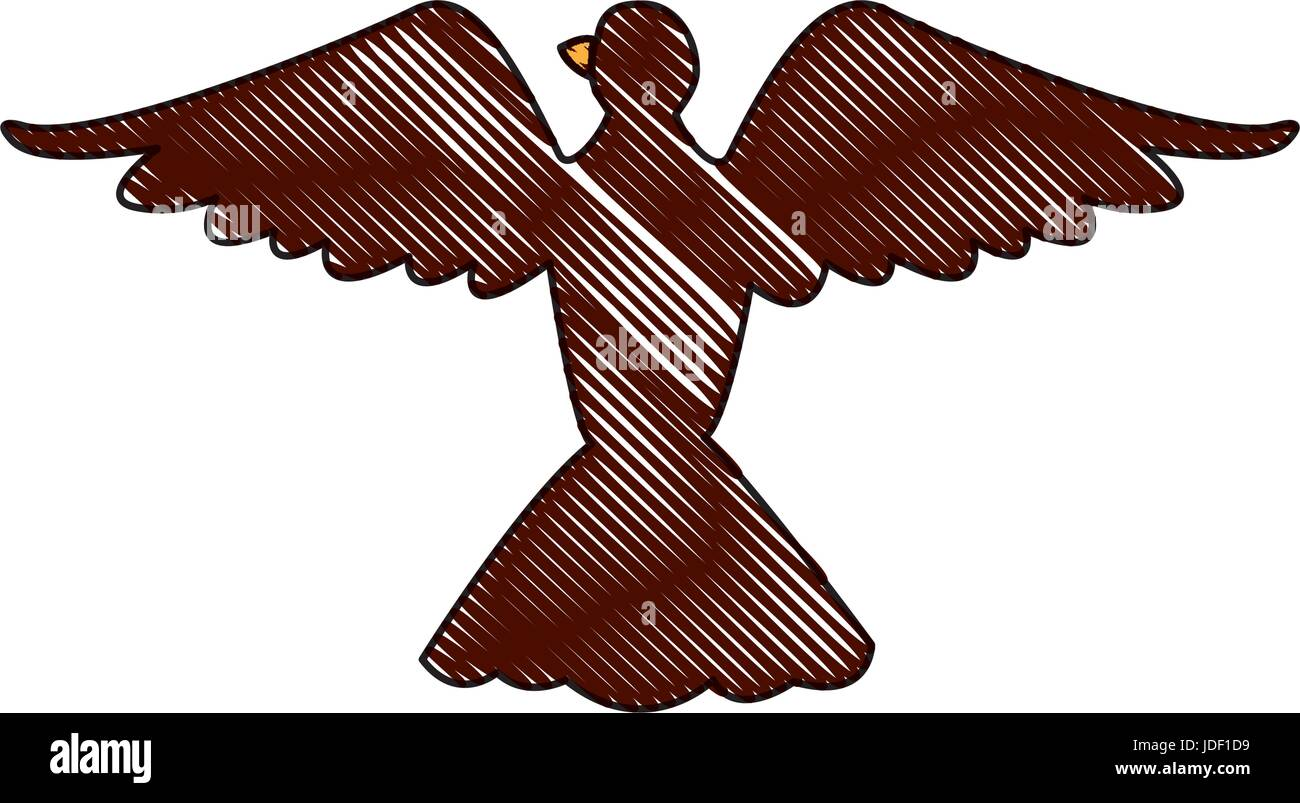 bird pigeon freedom peace wings open - Stock Image