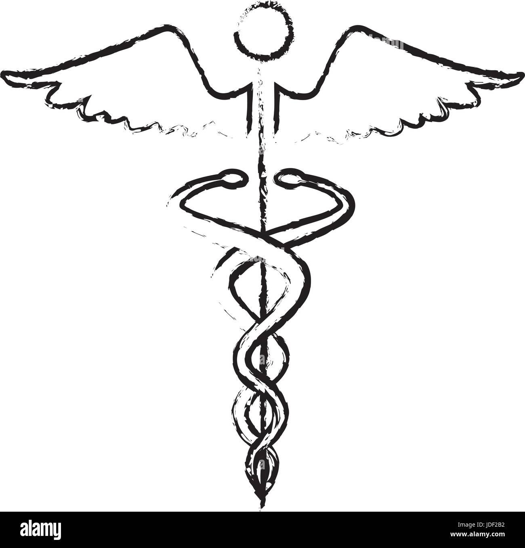 Caduceus Medical Health Care Symbol Stock Vector Art Illustration