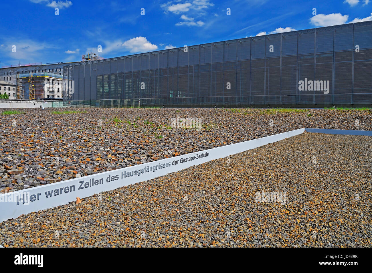 Documentation Center Topography of the Terror, Berlin, Germany - Stock Image