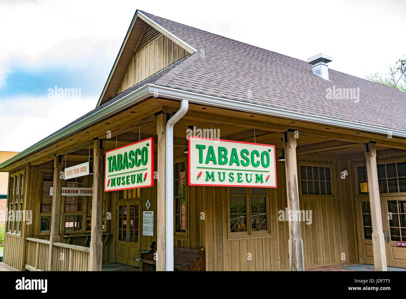 Louisiana, Avery Island, Tabasco Factory, Museum - Stock Image