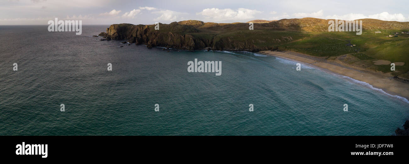 Aerial views of Dalmore beach, Dail Mor, Lewis, Outer Hebrides - Stock Image