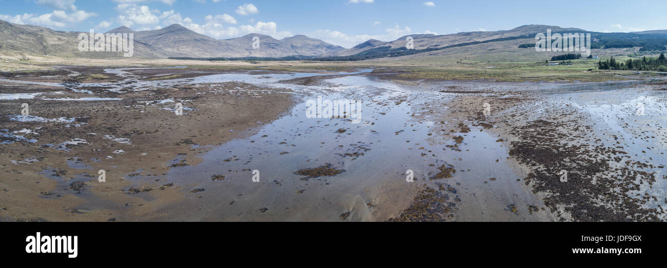 Aerial view of Loch Beg, Isle of Mull, Inner Hebrides, Argyll and Bute - Stock Image