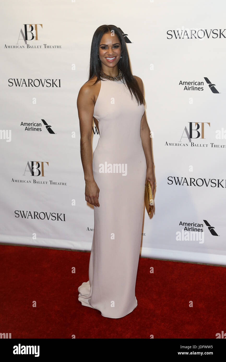 NEW YORK-MAY 22: Misty Copeland attends the American Ballet Theatre 2017 Spring Gala at David H. Koch Theater at - Stock Image
