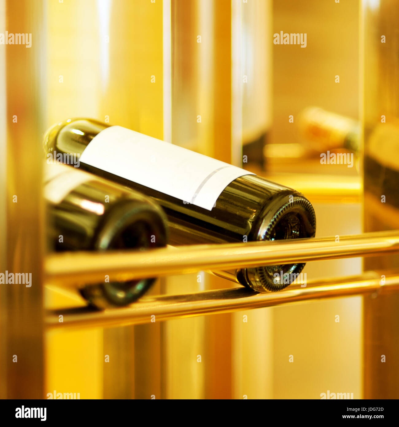 Light irradiation of the wine cooler, wine in France. - Stock Image