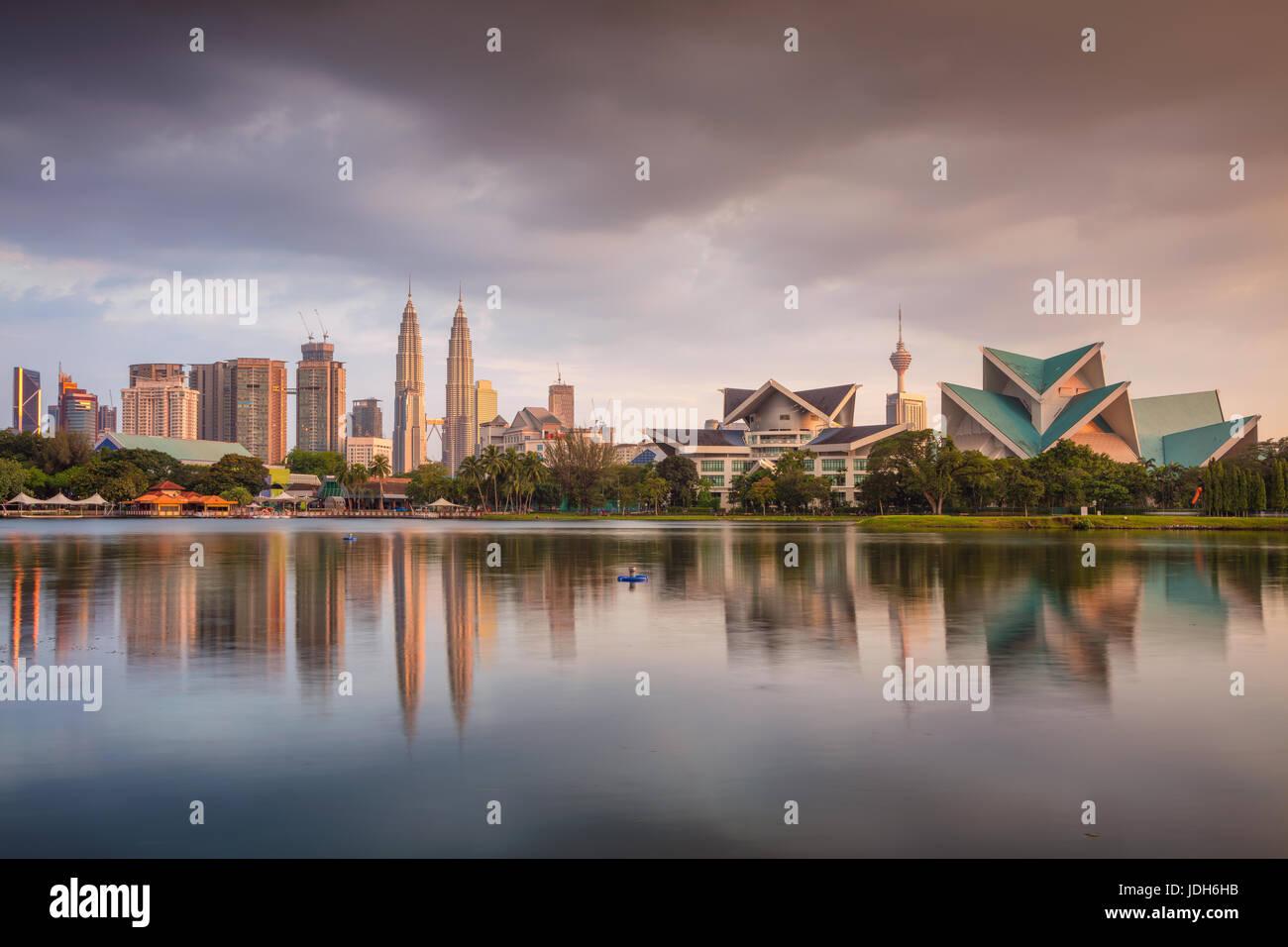Kuala Lumpur. Cityscape image of Kuala Lumpur skyline during sunset. Stock Photo