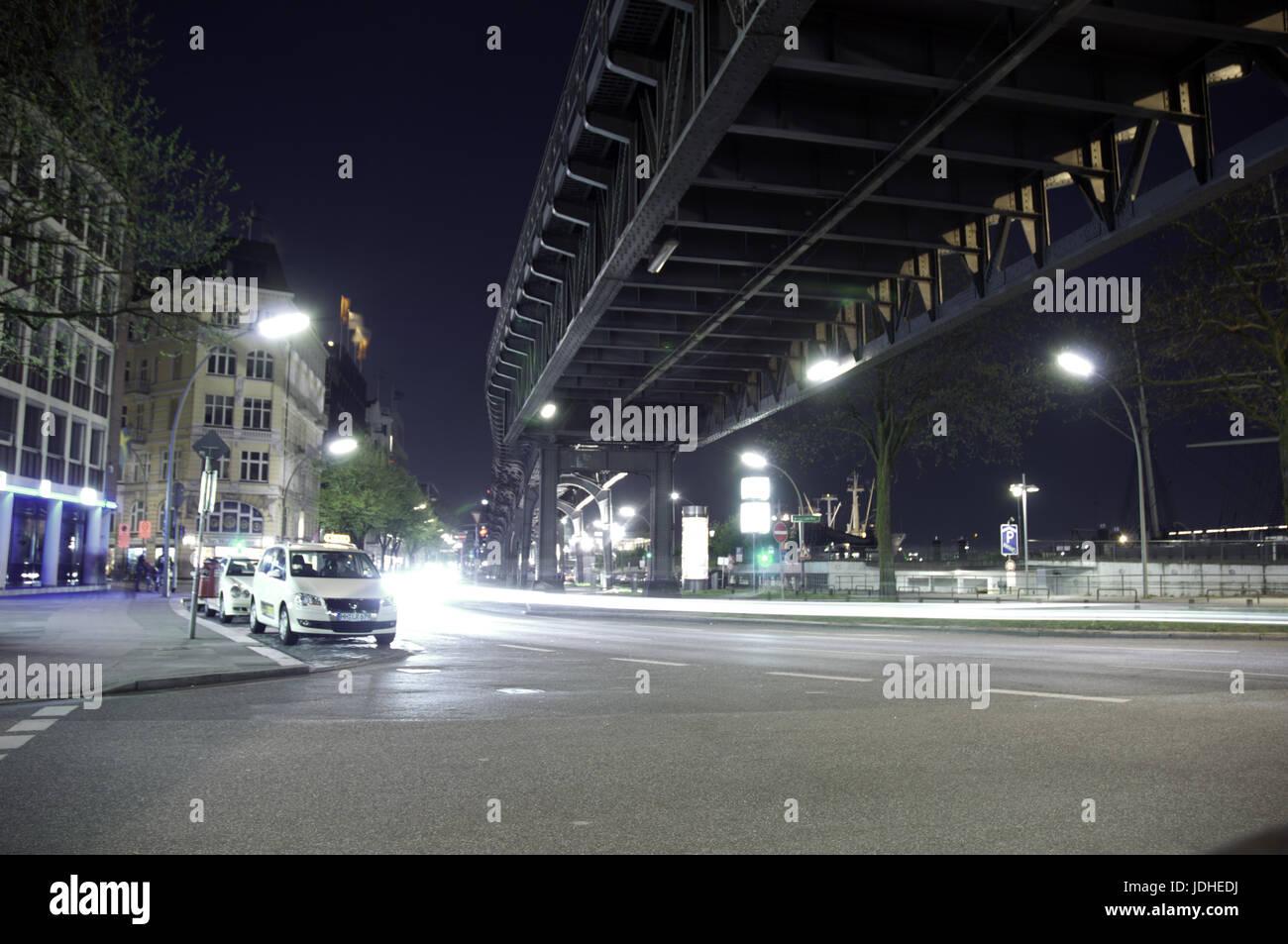 Taxis an den Landungsbrücken - Stock Image