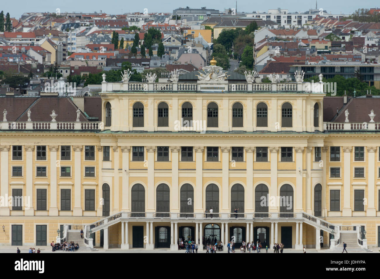 Austria. Vienna. Tele photo of  Schönbrunn Palace - Stock Image