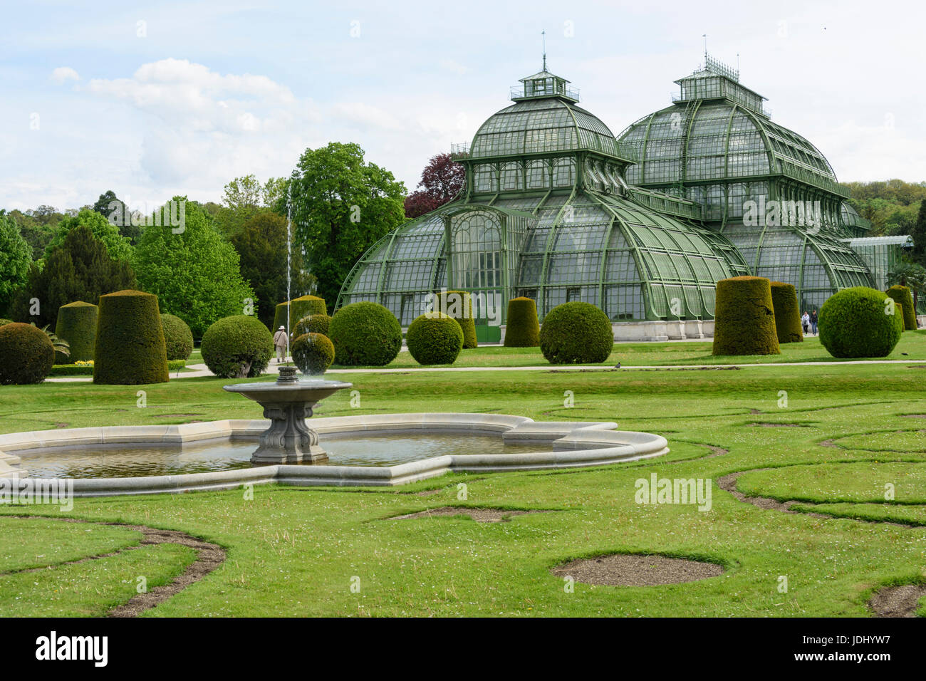 Austria. Vienna. The Palm pavilion in W part of the gardens of Schönbrunn Palace - Stock Image
