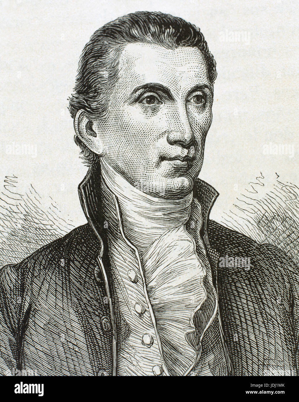 James Monroe (1758-1831). Fifth President of the United States (1817–1825). Last president who was a Founding Father - Stock Image