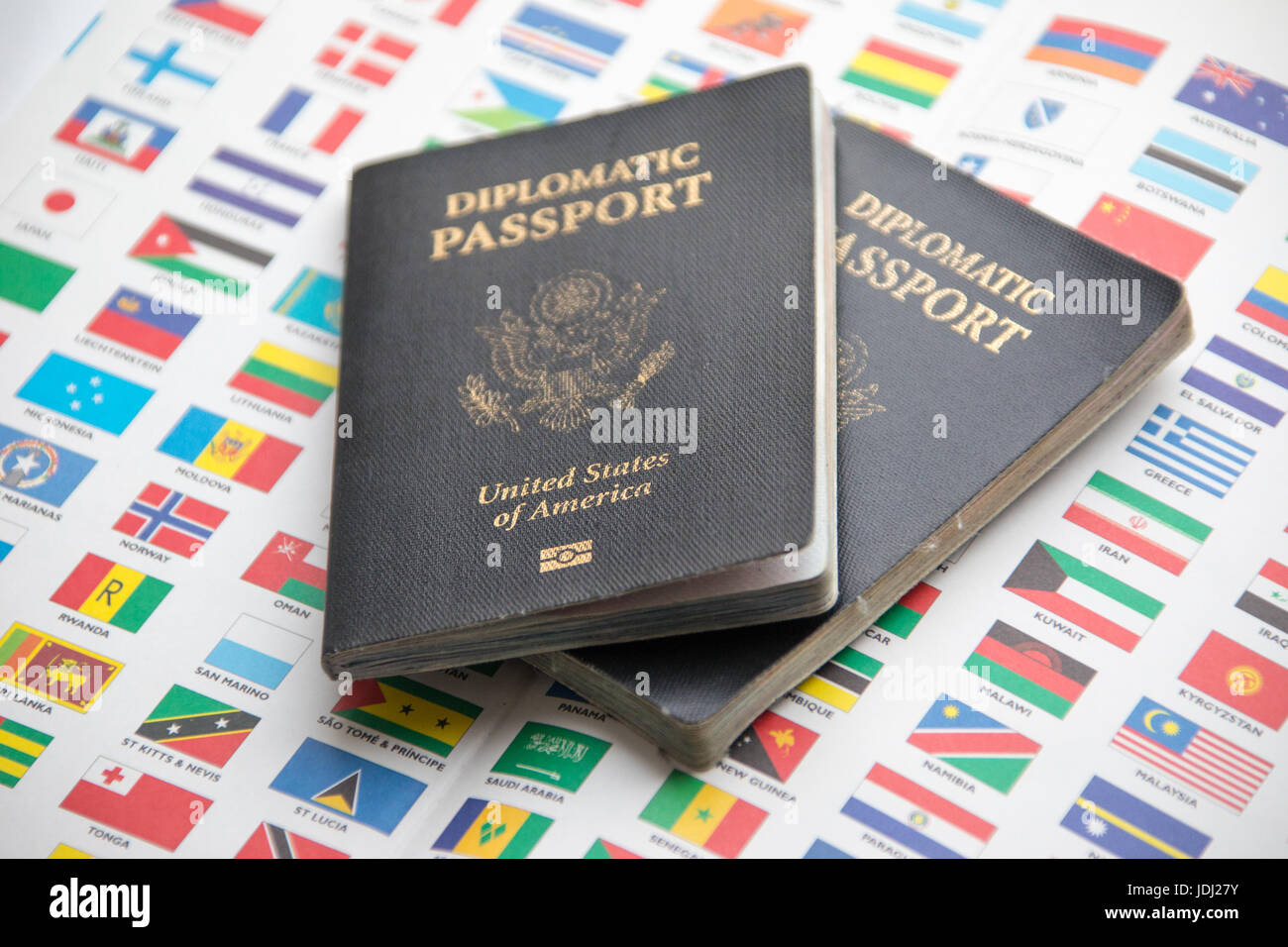 Diplomatic Passport of the United States of America - Stock Image