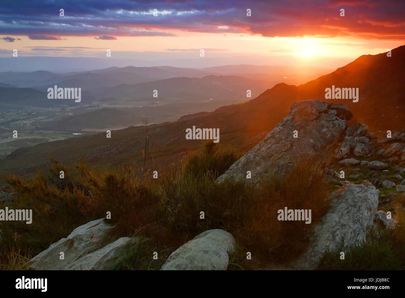 Swartbergpass, South Africa, Suedafrika - Stock Image