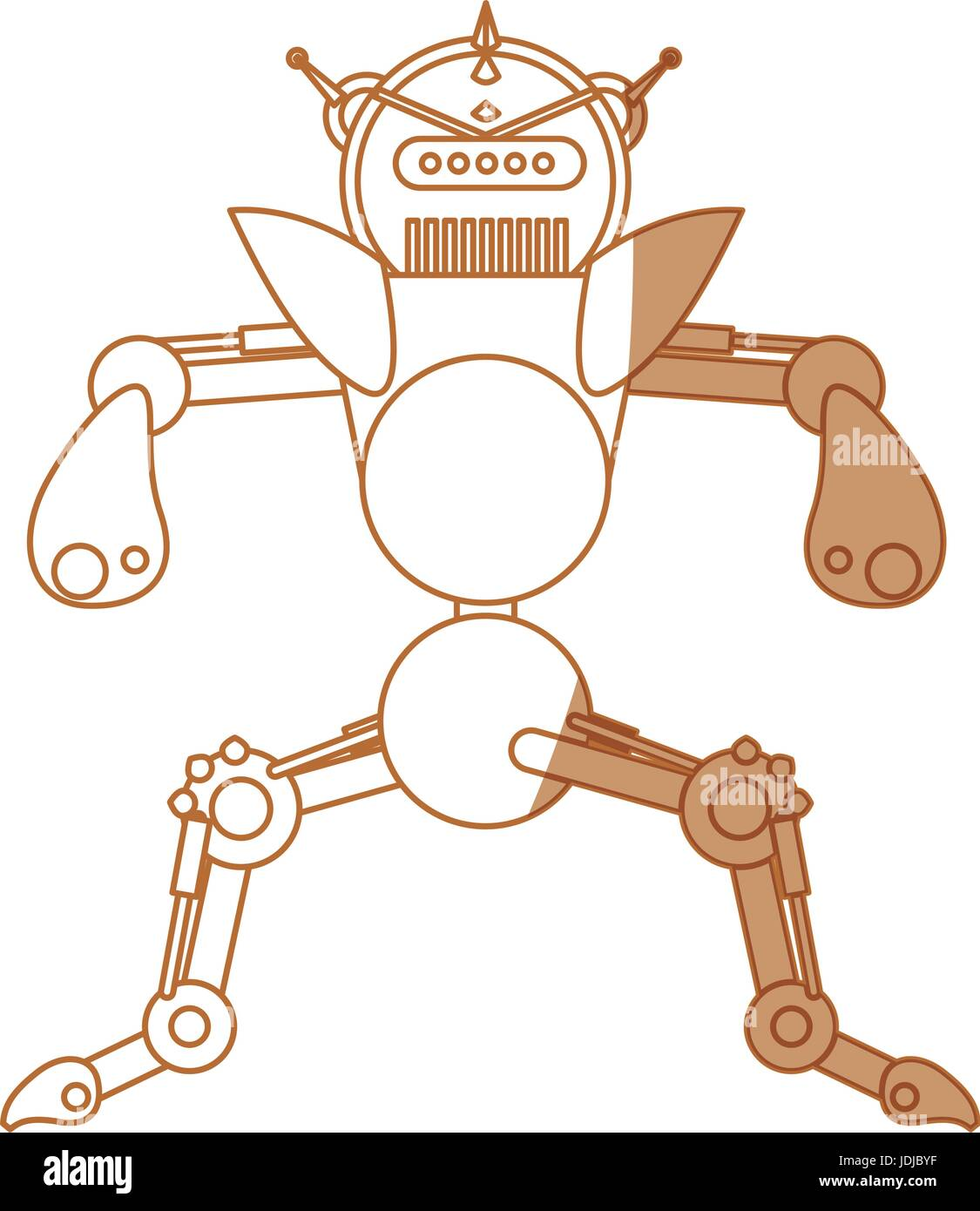 robot toy funny - Stock Image