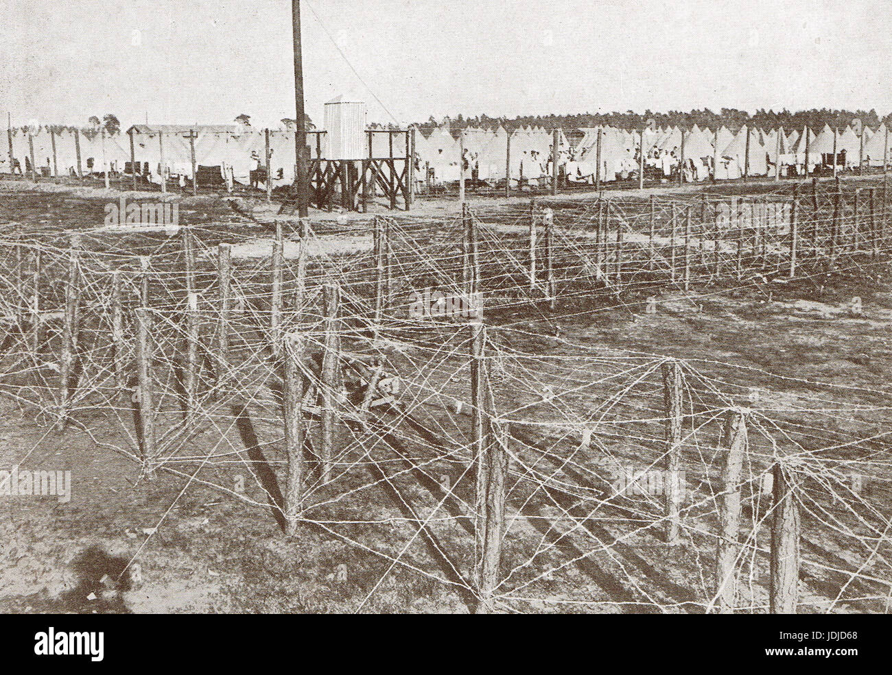 WW 1 Internment camp, Camberley, 1914 - Stock Image
