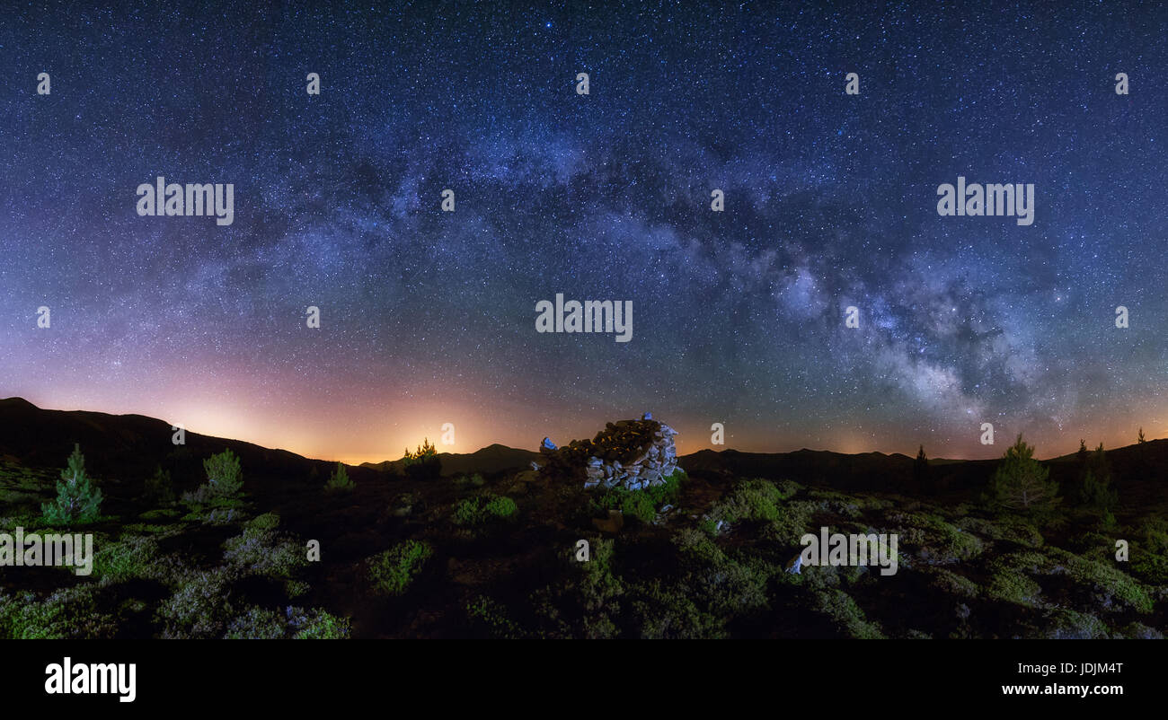 Milky way in Sierra de la Demanda - Stock Image