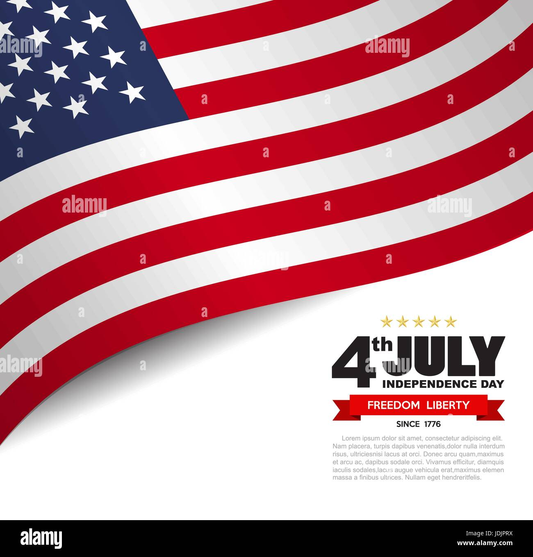 USA flag pattern background.Illustratiom EPS10 - Stock Image