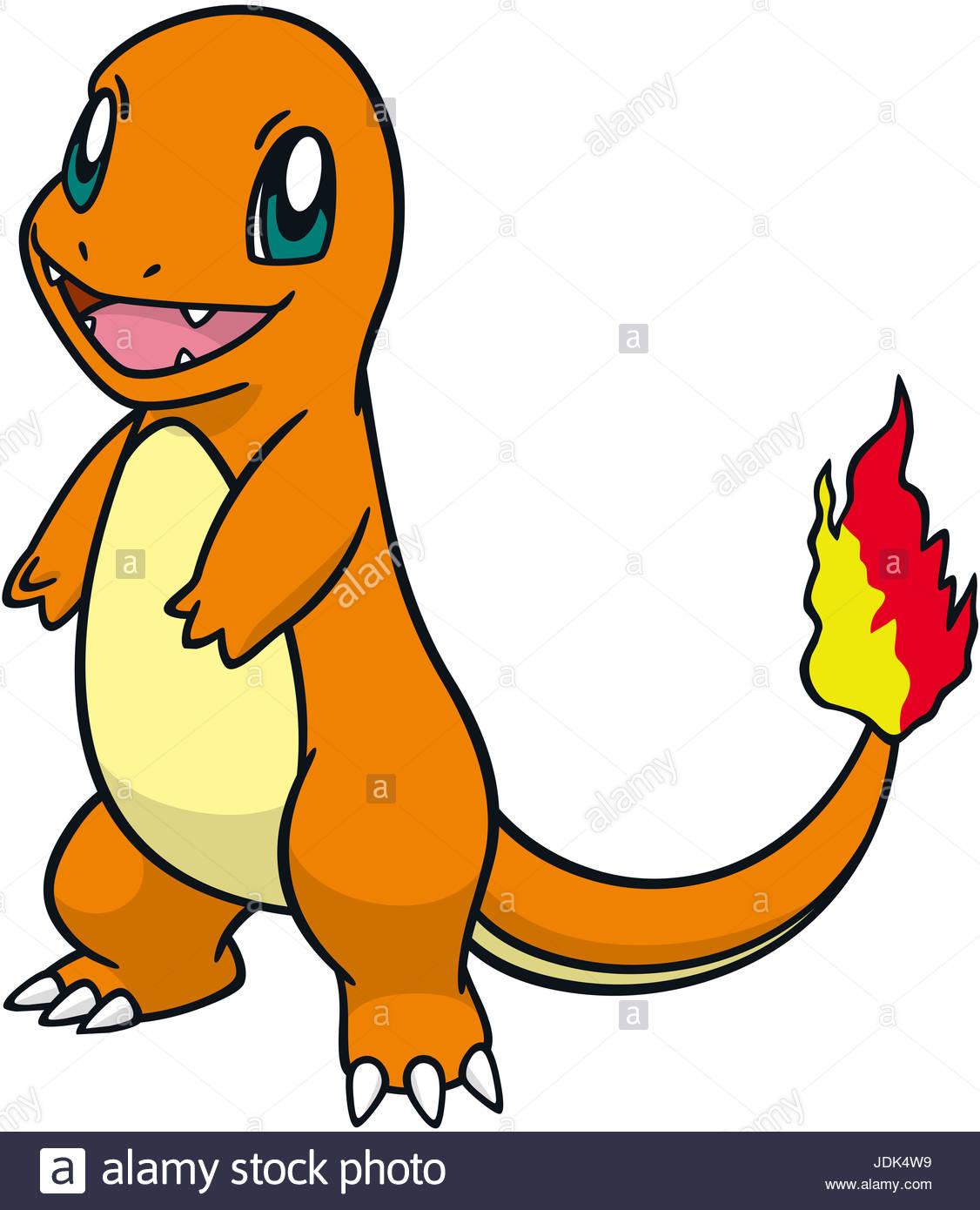 charmander illustration pokemon go game stock photo 146094405 alamy