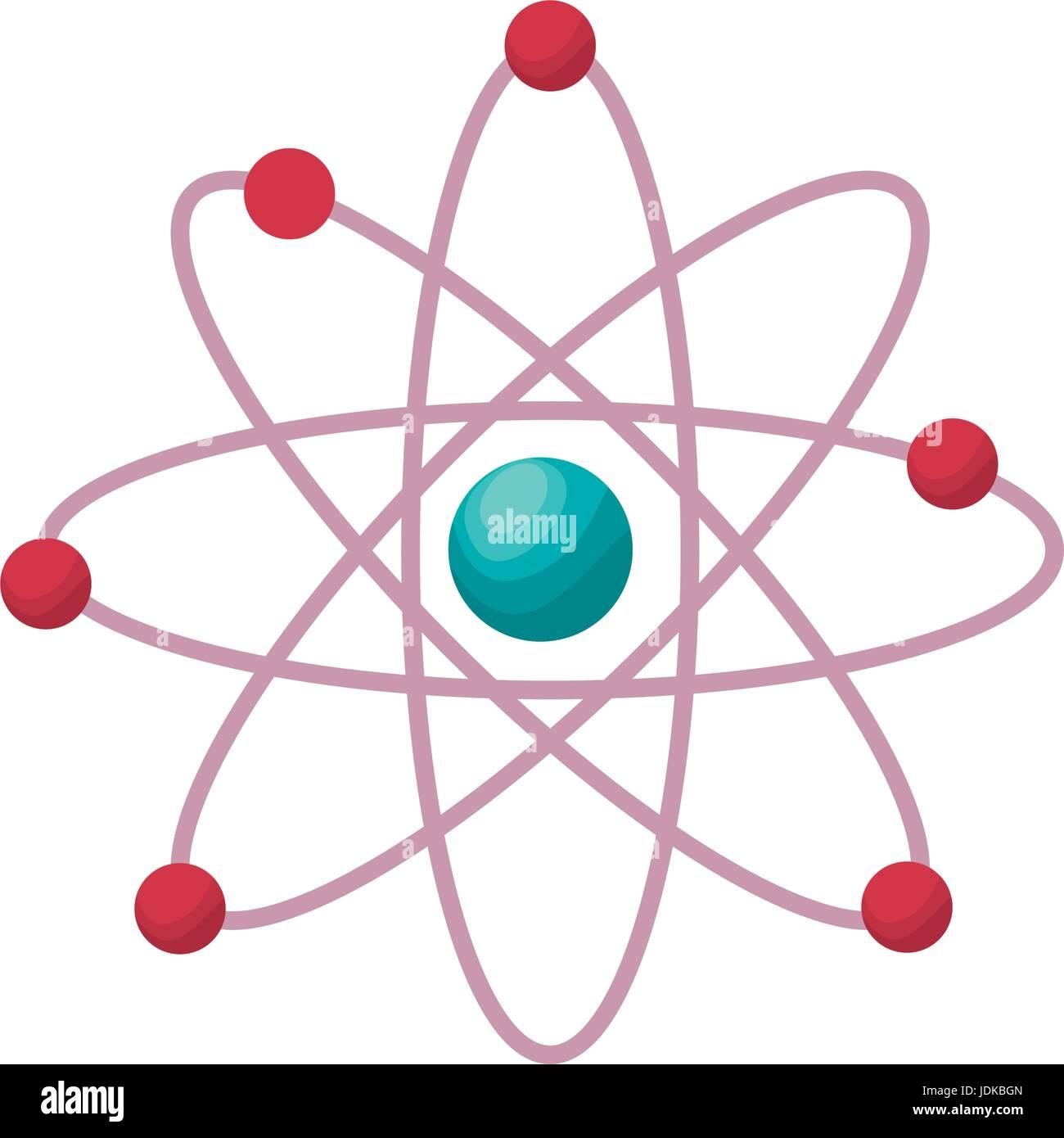 chemical symbol of atom science symbol - Stock Vector