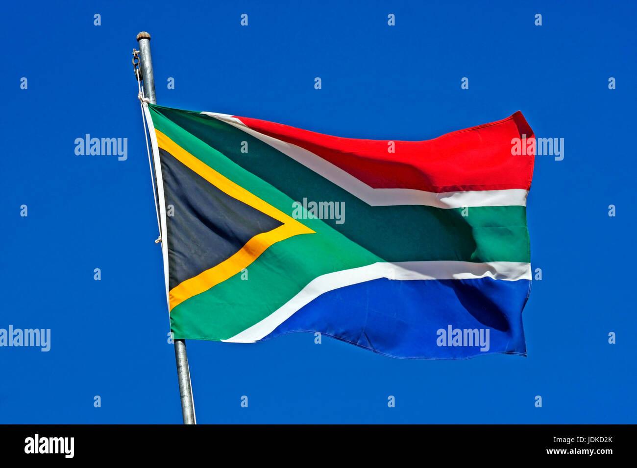 Flag of South Africa, Flagge von Suedafrika - Stock Image