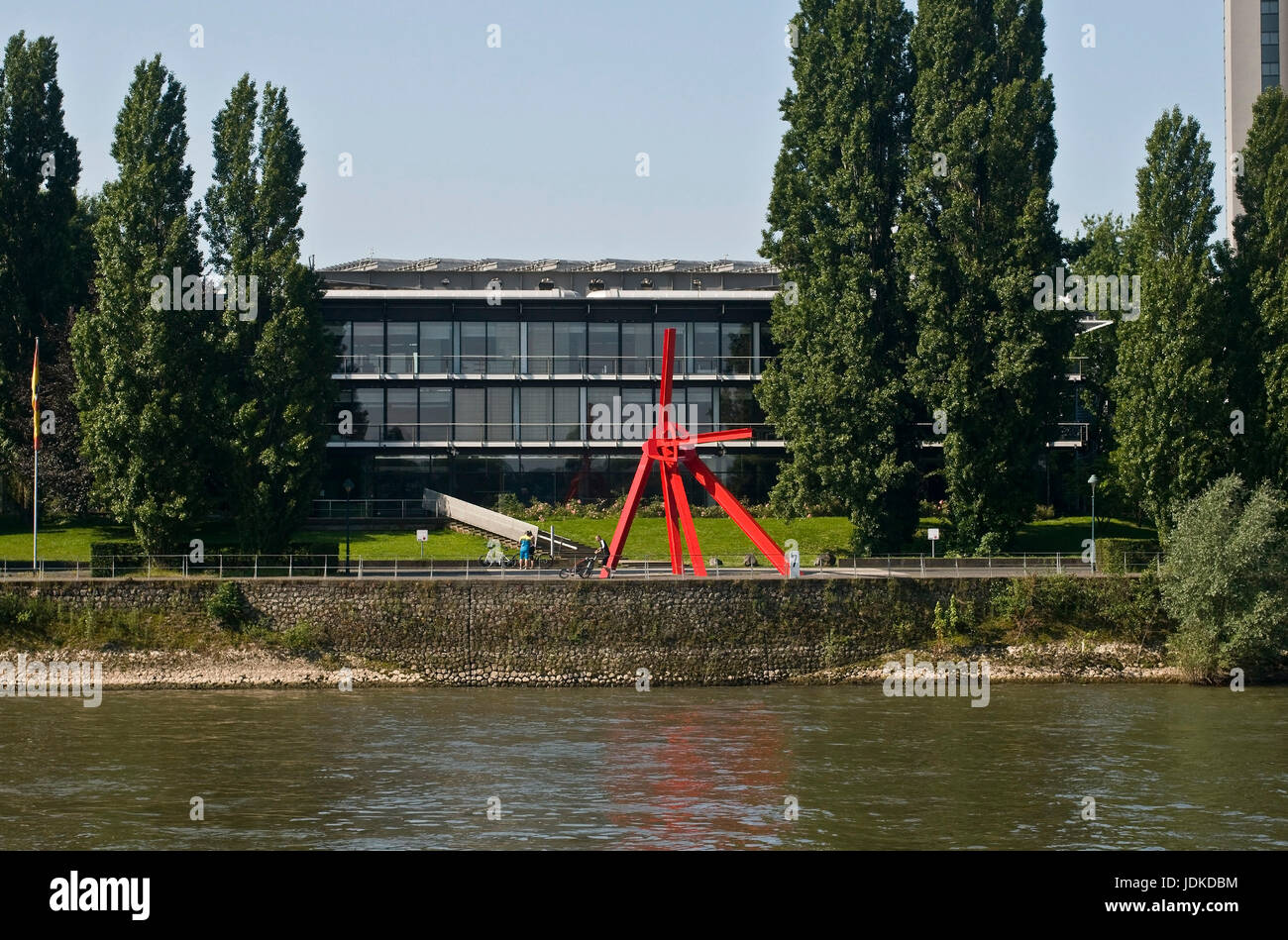 Europe, Germany, North Rhine-Westphalia, Bonn, Rhine front of the Bundestag building in Bonn ? ?? in front the building - Stock Image