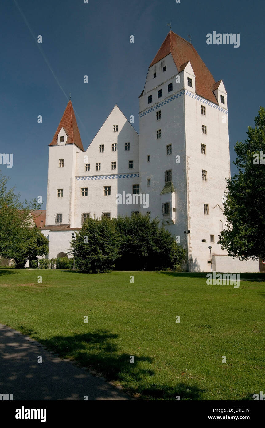 Europe, Germany, Bavaria, the Danube, Ingolstadt, look to the new castle, 15. Jhdt.  , Europa, Deutschland, Bayern, - Stock Image