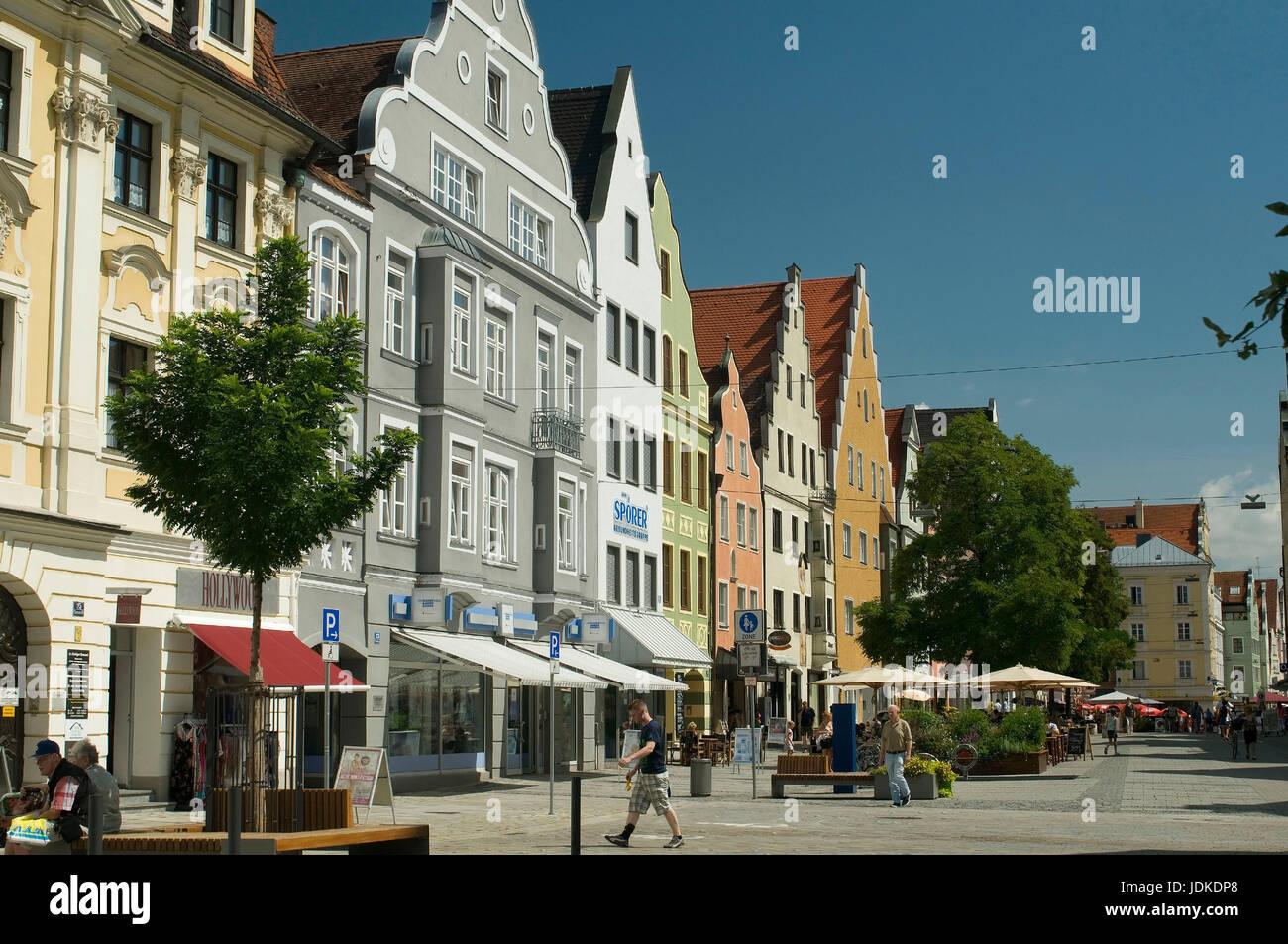 Europe, Germany, Bavaria, Ingolstadt, Theresienstrasse, , Europa, Deutschland, Bayern, Theresienstraße - Stock Image