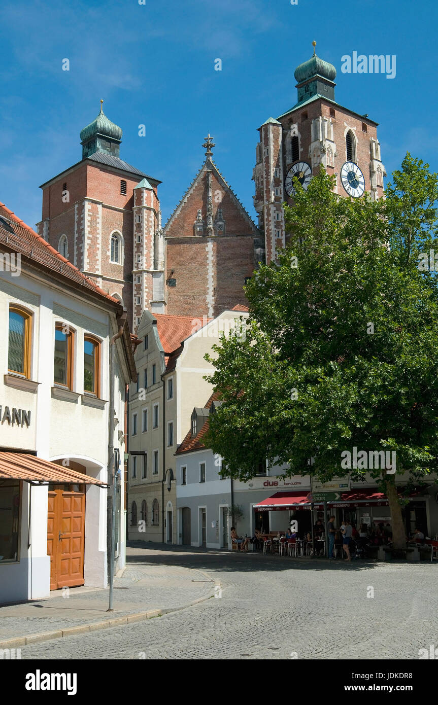 Europe, Germany, Bavaria, Ingolstadt, dear woman's cathedral, Late-Gothic dreischiffige hall church, 15./16. - Stock Image